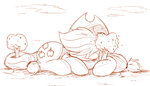 apple_tree applejack big highres ncmares sketch sleeping