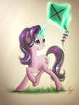 highres kite magic starlight_glimmer theflyingmagpie