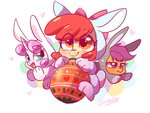 apple_bloom colorfulcolor233 costume cutie_mark_crusaders easter_egg egg highres rabbit scootaloo sweetie_belle