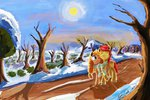 absurdres bright_mac highres hyperdashpony pear_butter scenery tree winter