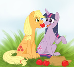 applejack apples cartoonlion twilight_sparkle