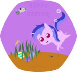 background_ponies diving easter easter_egg egg hare haretrinity sea sea_swirl seahorse underwater water