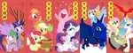 apple_bloom applejack apples big_macintosh chinese confetti cutie_mark_crusaders discord dm29 fluttershy main_six new_year's orange philomena pinkie_pie princess_celestia princess_luna pun rainbow_dash rarity scootaloo spike sweetie_belle twilight_sparkle