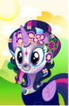 absurdres day_of_the_dead highres infinitewarlock mask portrait princess_twilight sugar_skull twilight_sparkle