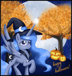 autumn cloak costume halloween hat jack-o-lantern mel-rosey princess_luna pumpkin