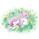 filly flowers madmax princess_celestia sleeping