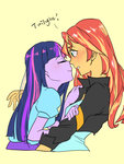 equestria_girls extraluna humanized shipping sunlight sunset_shimmer twilight_sparkle