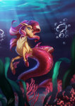 absurdres highres light262 siren species_swap sunset_shimmer underwater