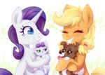 applejack filly kitten opalescence pink-pone puppy rarity winona