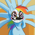 costume day_of_the_dead highres lopilot nightmare_night rainbow_dash