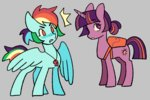 bag bonsaisonly rainbow_dash twilight_sparkle whistle