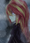 caibaoreturn equestria_girls humanized rain sunset_shimmer