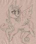 faline highres princess_cadance traditional_art