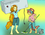 adagio_dazzle anthro bucket mustlovefrogs refrigerator strong sunset_shimmer