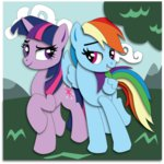 cloud highres rainbow_dash shipping the-paper-pony tree twidash twilight_sparkle