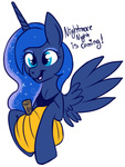 lulubellct nightmare_night princess_luna pumpkin transparent