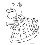 crossover dalek doctor_who lineart ponified unicron_(artist)