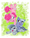 absurdres graystripe64 highres limestone_pie marble_pie pinkie_pie siblings