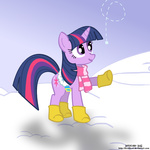 invidlord snow snowing twilight_sparkle winter
