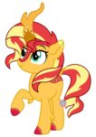 highres kirin lovinglypromise species_swap sunset_shimmer