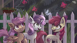 absurdres amy-gamy apple_bloom butterfly cutie_mark_crusaders highres scootaloo sweetie_belle