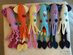 applejack cephalopod fluttershy main_six mumbles photo pinkie_pie plushie rainbow_dash rarity species_swap squid toy twilight_sparkle yarn