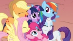 applejack fluttershy highres main_six pinkie_pie rainbow_dash rarity shelltoontv twilight_sparkle vector wallpaper