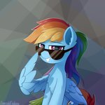 emeraldgalaxy glasses highres rainbow_dash sunglasses