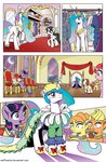 costume dress filly highres muffinshire nighttime princess_celestia raven_(pony) twilight_sparkle twilights_first_dance