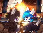 highres mackinn7 octavia_melody original_character pirate ship vinyl_scratch