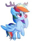 antlers highres left2fail rainbow_dash reindeer rudolph_the_red_nosed_reindeer