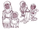 humanized muslim nyan-cow rarity sketch spike sweetie_belle