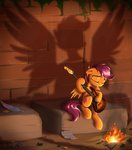 absurdres fire guitar highres scootaloo shadow sirzi