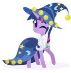 absurdres beard belka-sempai bells cloak costume hat highres twilight_sparkle