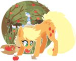 applejack apples ddye088 orchard snail trees