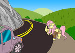 car fluttershy i_shall_not_use_my_wings_as_hands power_ponies wolfman-al