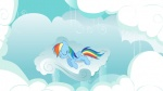 highres rainbow_dash shelltoontv sleeping vector wallpaper