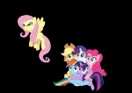 angry applejack fluttershy highres main_six pinkie_pie rainbow_dash rarity ryoki-fureaokibi transparent twilight_sparkle vector