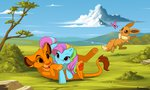 butterfly crossover g3 kamirah lion pokemon rainbow_dash_(g3) the_lion_king