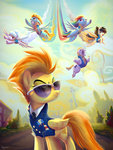 adlynh bulk_biceps cloudchaser lightning_dust rainbow_dash spitfire uniform wild_fire