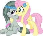 djdavid98 flower_crown fluttershy marble_pie pirill-poveniy siblings