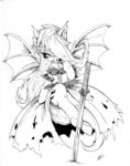 alts-art apples costume crossover flutterbat fluttershy highres sword weapon