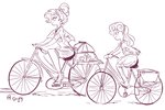 bicycle equestria_girls humanized jowybean rarity sketch sweetie_belle