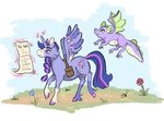 applewack flowers lowres magic princess_twilight spike twilight_sparkle