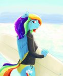 anthro highres isaak rainbow_dash sea surfboard wetsuit