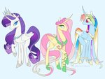 alicorn bunniiibabe fluttershy rainbow_dash rarity
