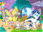 andy_price angel book flowers fluttershy gems opalescence pie princess_luna rarity scootaloo sweetie_belle