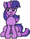 animated lowres pixel_art renaturnip twilight_sparkle yawn
