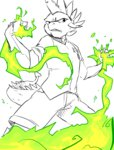 alternate_universe anthro fire glacierclear highres sketch spike ultimare_universe