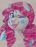 anthro earthsong9405 highres pinkie_pie traditional_art